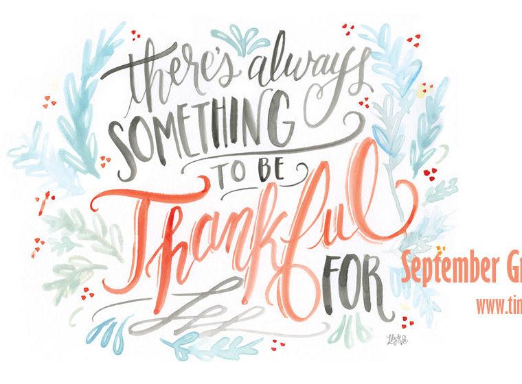 September Gratitude List