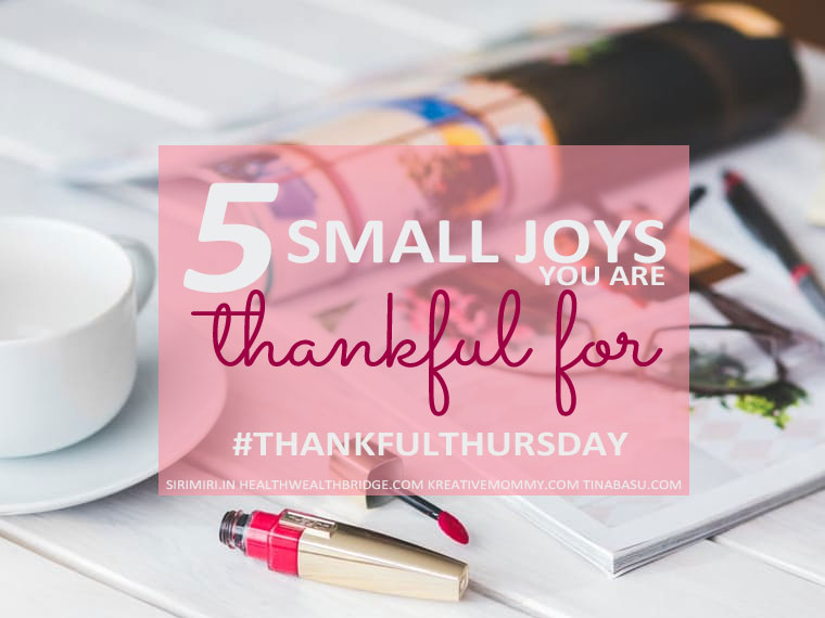 5 Small Joys in Life you are Thankful for- #ThankfulThursday Week 21 | Tina Basu