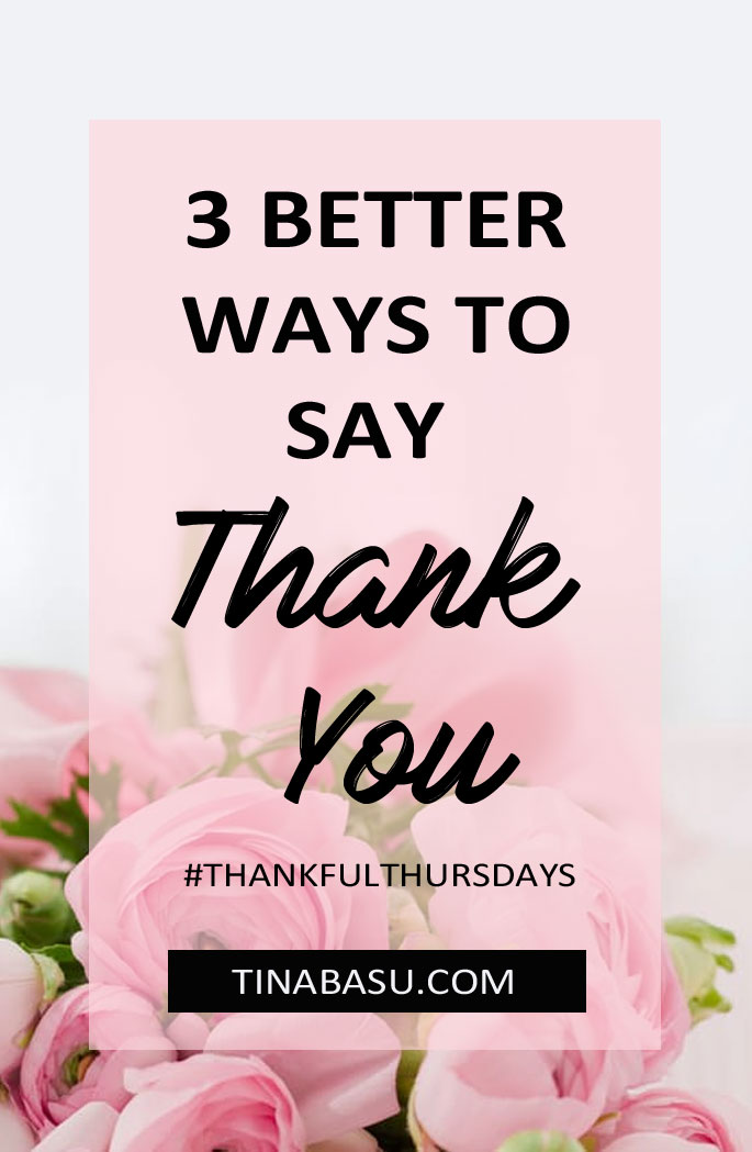 3 ways to say thank you