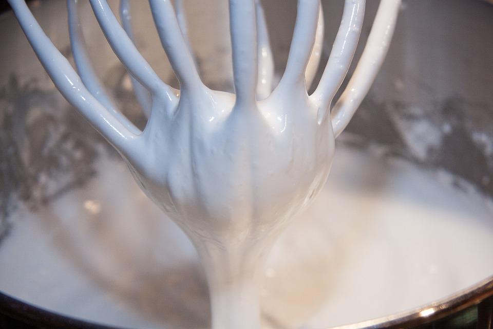 whipped egg white