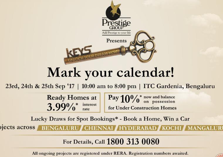 prestige keys property expo in bangalore