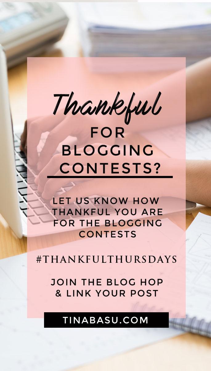 blogging contests thankful thursdays