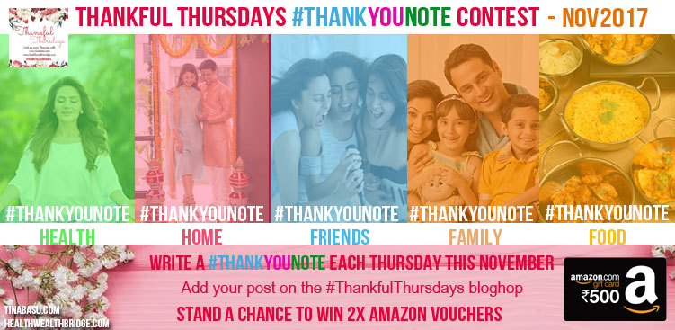 thankful thursday #ThankYouNote contest