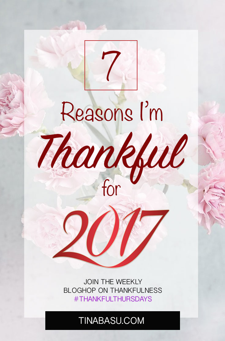 thankful for 2017 #ThankfulThursday