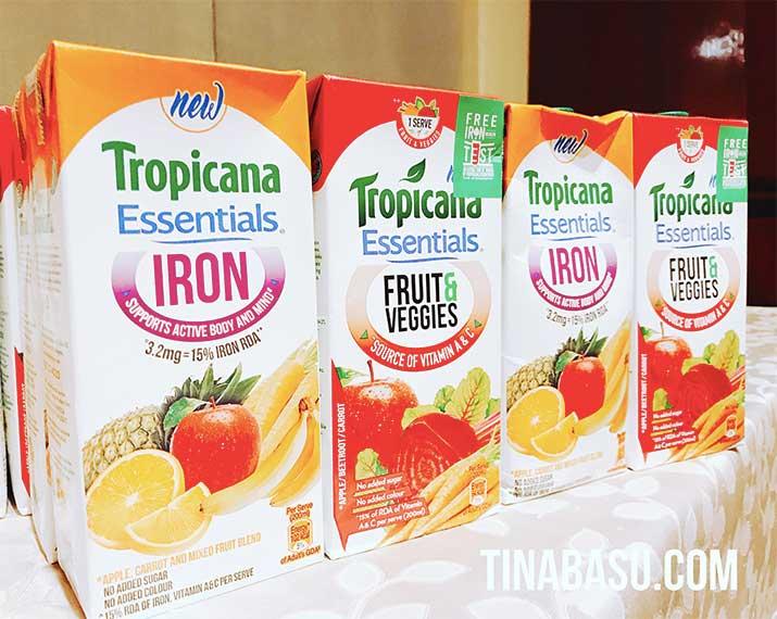 tropicana essentials range