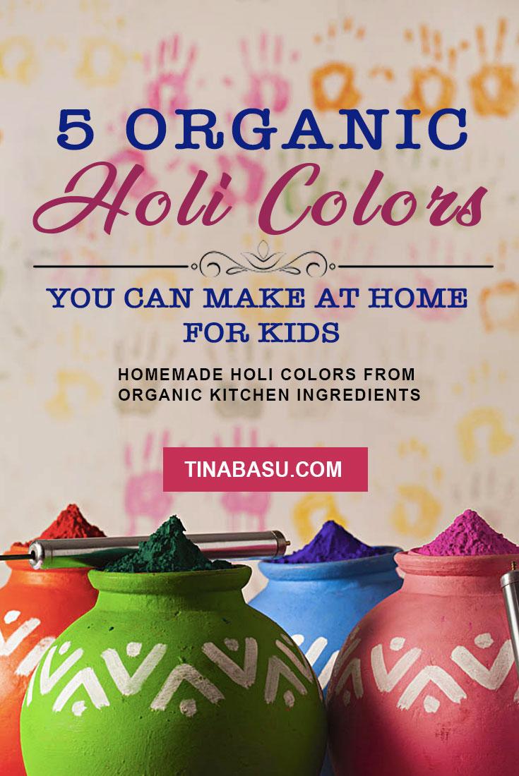 Organic Holi Colors for babies - Homemade Holi Colors