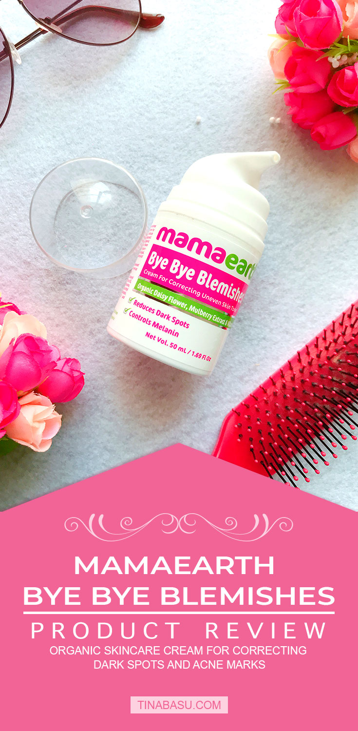 mamaearth bye bye blemishes cream product review