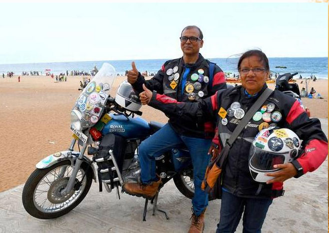 dilip and pooja chauhan solo bike trip after retirement