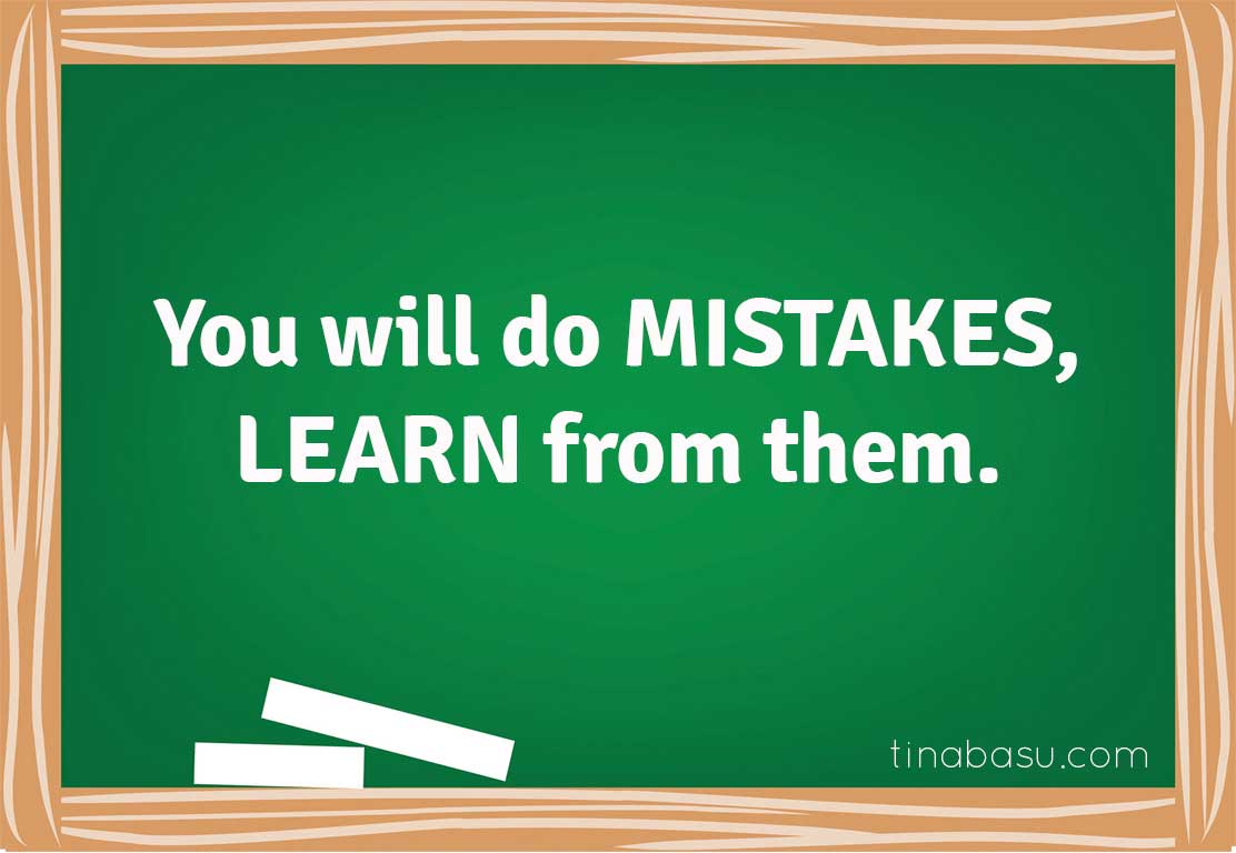 learn from mistakes life lessons learned