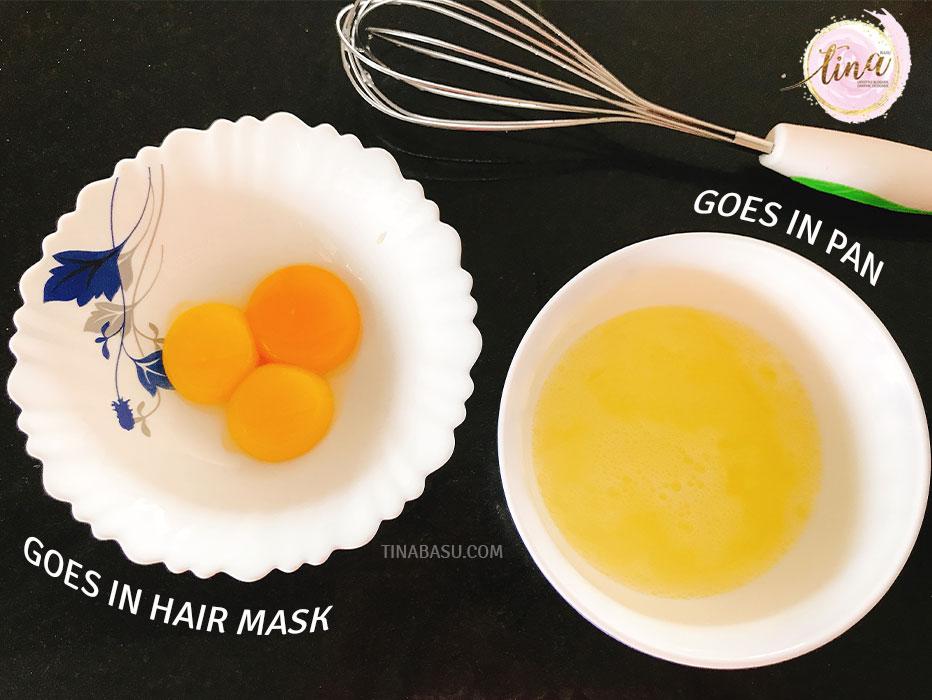 DIY Hair Conditioning hair mask with Egg yolk
