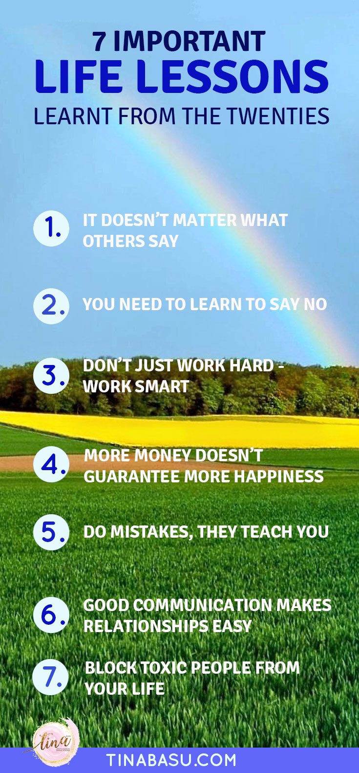 important life lessons . learned from twenties