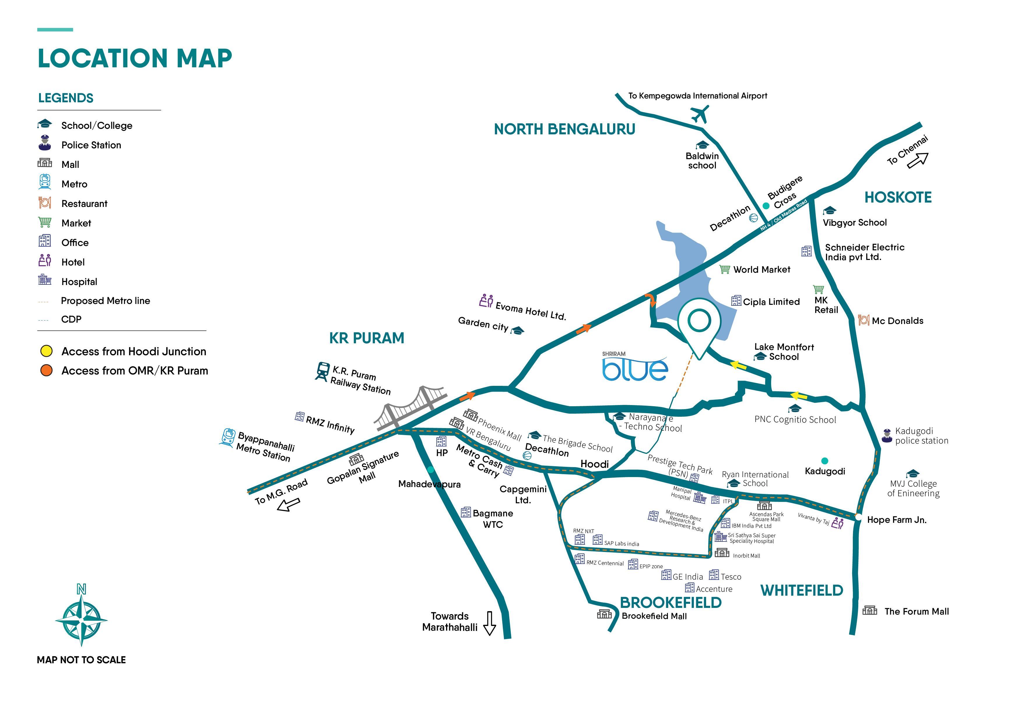 location map shriram blue